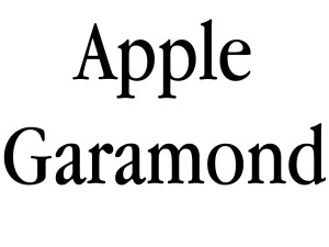 Apple Garamond